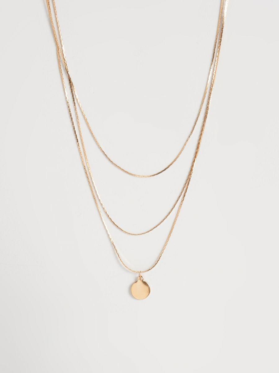 22d616ff3 Viacvrstvový náhrdelník s príveskom, SINSAY, VL489-08X