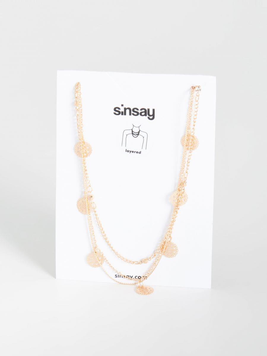 91d992cd1 Viacvrstvový náhrdelník, SINSAY, WD472-08X