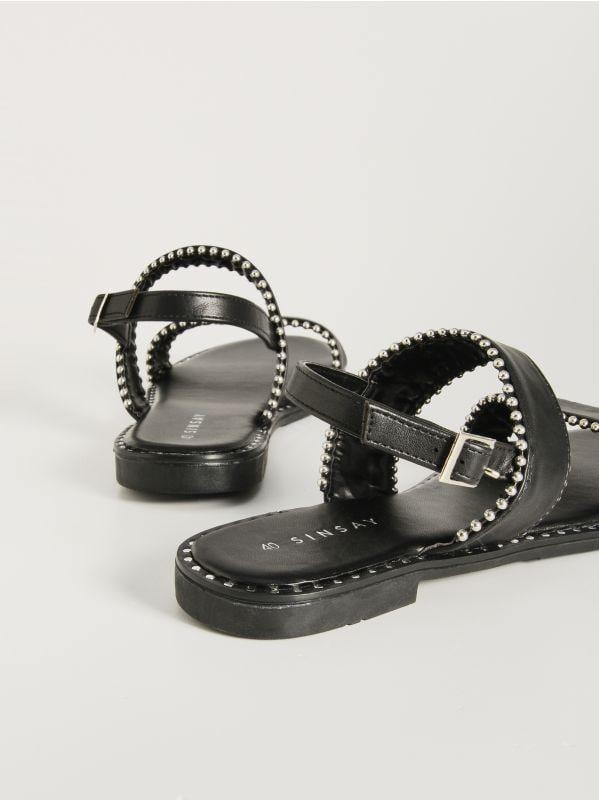 2478384a871b Šľapky s prackami · Sandále s detailmi - čierna - VX348-99X - SINSAY