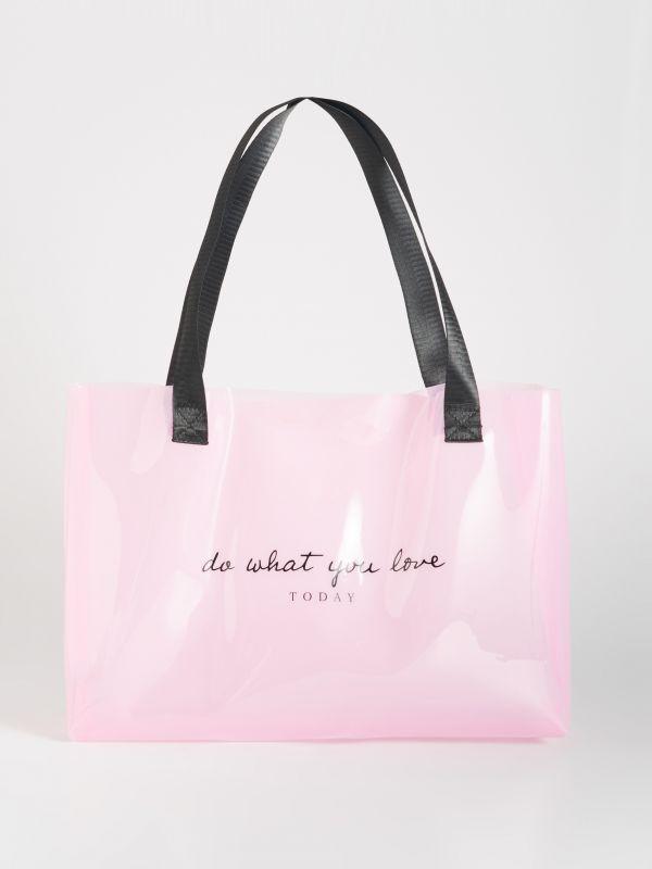 3d24a0a443042 Biała torebka z fakturą · Różowa torba z napisem - różowy - VZ268-30X -  SINSAY
