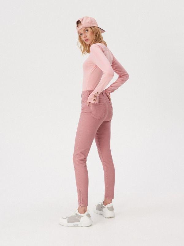 8a06d46a7212a9 Bluzka z kieszeniami · Bawełniana bluzka z guzikami - różowy - WD330-03X -  SINSAY