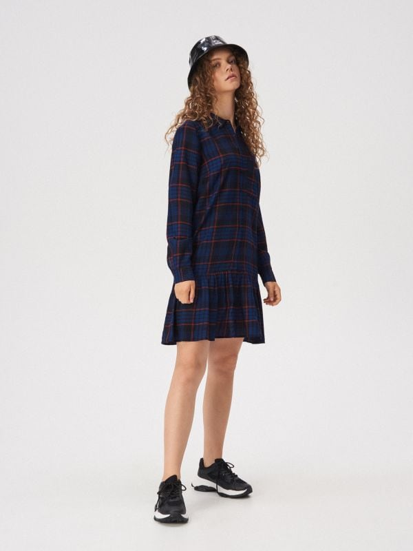 e4f7056d7 Kostkované šaty · Kostkované šaty - tmavomodrá - WD605-59X - SINSAY