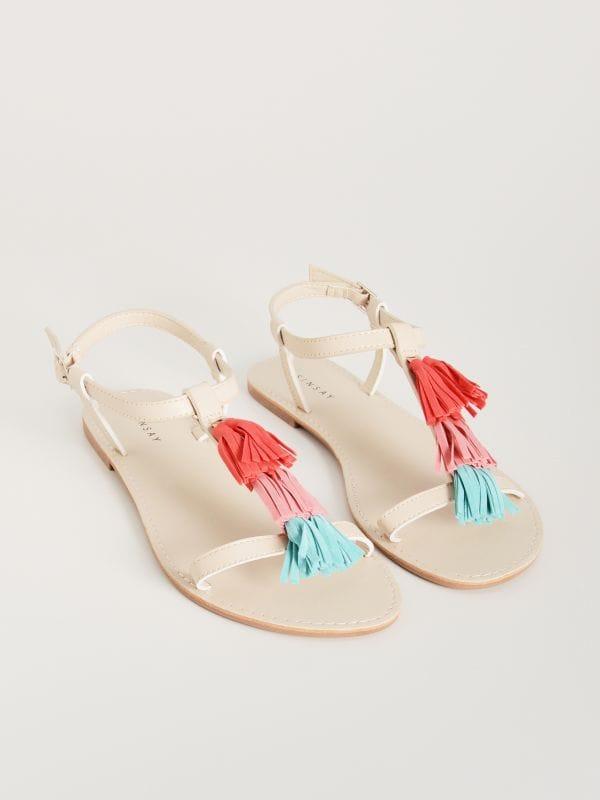 0af9df1ff6d40 Sandały z paskami · Sandały z chwostami - wielobarwny - WD829-MLC - SINSAY