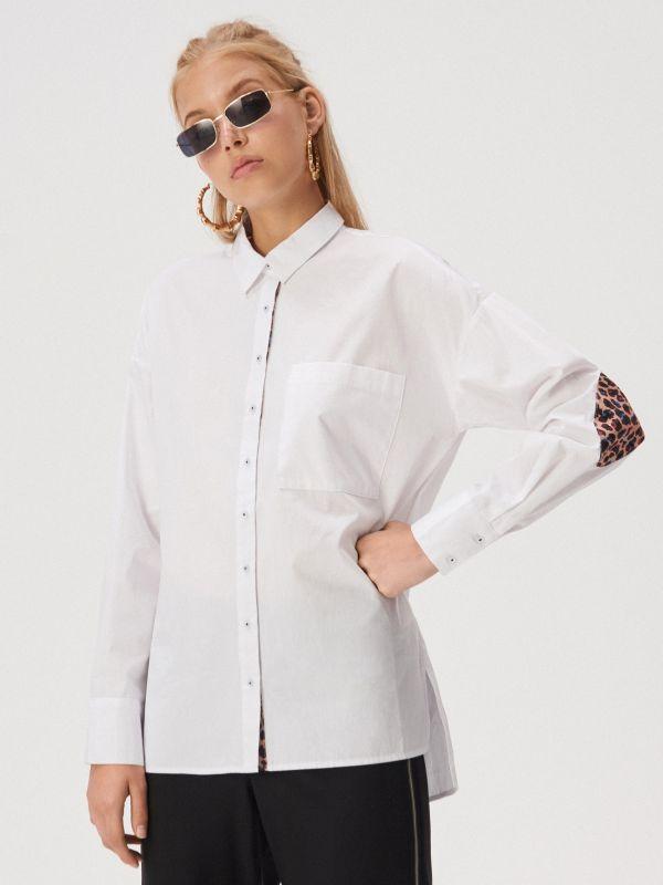 d8ab9b07685a LADIES` SHIRT · Рубашка с анималистическим принтом - Белый - WL612-00X -  SINSAY