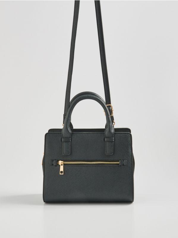 45e54c700a1c96 Plecak w paski · Torebka kuferek na ramię - czarny - WQ059-99X - SINSAY